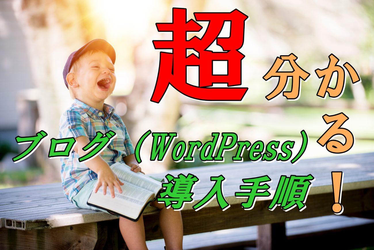 エックスサーバーでのブログ(WordPress)導入手順【もう迷わない】